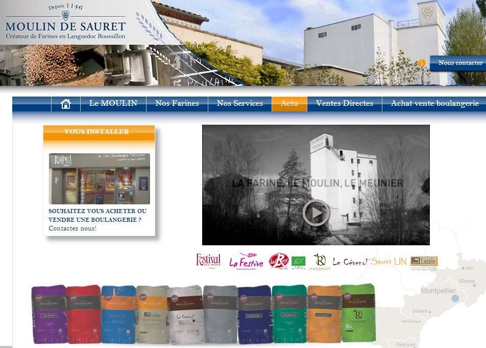 Accueil Site Moulin de Sauret