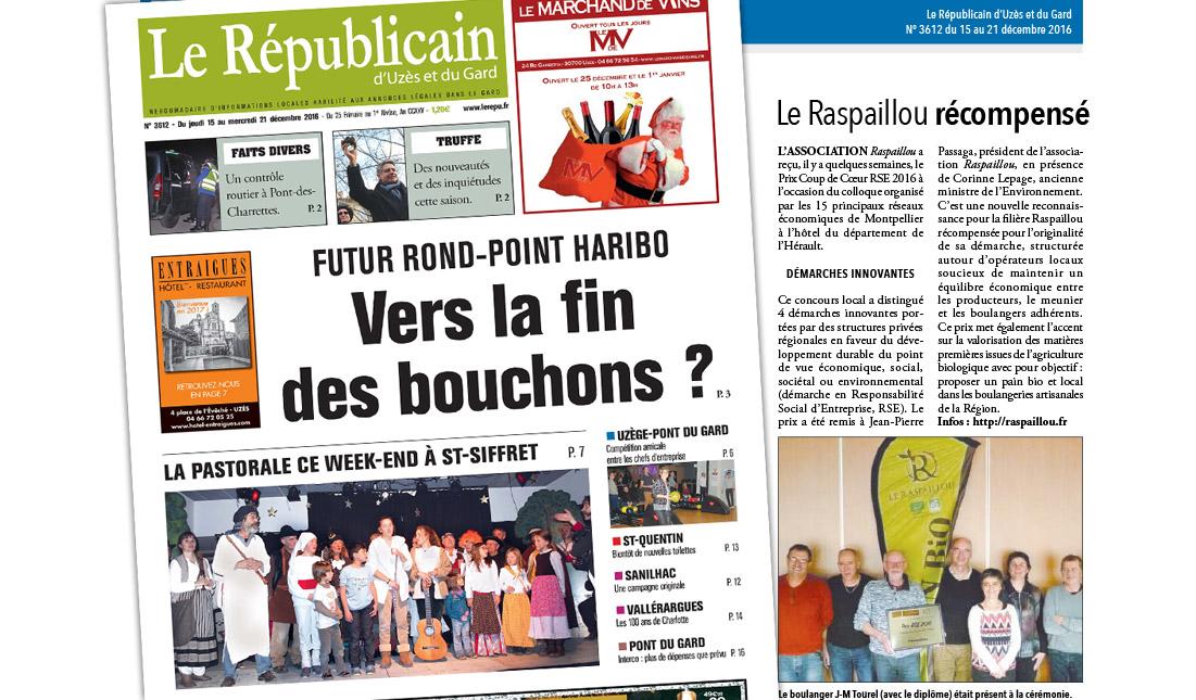 Raspaillou Le Républicain d'Uzès et du Gard